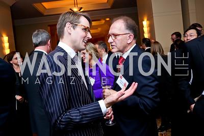 Todd Fox, Antoine Van Agtmael. Photo by Tony Powell. FP Diplomat of the Year Award. Mandarin Oriental. October 29, 2014