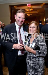 Don Graham and Amanda Bennett. Photo by Tony Powell. FP Diplomat of the Year Award. Mandarin Oriental. October 29, 2014