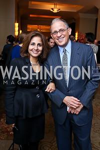 Neera Tanden, Fred Hochberg. Photo by Tony Powell. FP Diplomat of the Year Award. Mandarin Oriental. October 29, 2014