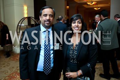 Amer Yaqub, Tara Chandra. Photo by Tony Powell. FP Diplomat of the Year Award. Mandarin Oriental. October 29, 2014