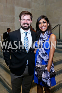 Cody Swallows, Neera Nathan. Photo by Tony Powell. FNIH 2014 Lurie Prize Dinner. National Academy of Sciences. May 20, 2014