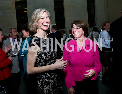 Jennifer Doudna, Sen. Amy Klobuchar. Photo by Tony Powell. FNIH 2014 Lurie Prize Dinner. National Academy of Sciences. May 20, 2014