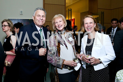 Dr. Michael Gottlieb, Lola Reinsch, Dr. Karen Tountas. Photo by Tony Powell. FNIH 2014 Lurie Prize Dinner. National Academy of Sciences. May 20, 2014