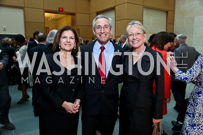 FNIH President Maria Freire, Dr. Thomas Insel, Ann Lurie. Photo by Tony Powell. FNIH 2014 Lurie Prize Dinner. National Academy of Sciences. May 20, 2014