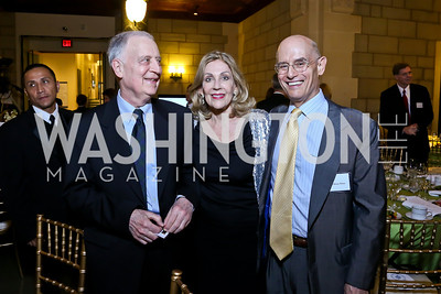 National Academy of Sciences President Ralph Cicerone, Dame Jillian Sackler, Bill Nitze. Photo by Tony Powell. FNIH 2014 Lurie Prize Dinner. National Academy of Sciences. May 20, 2014