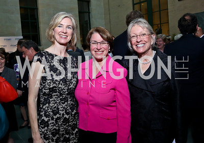 Jennifer Doudna, Sen. Amy Klobuchar, Ann Lurie. Photo by Tony Powell. FNIH 2014 Lurie Prize Dinner. National Academy of Sciences. May 20, 2014