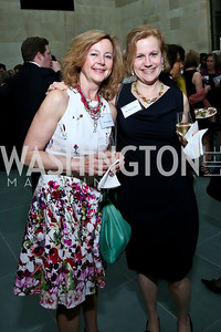 Kathy Konka, Nicole Tapay. Photo by Tony Powell. FNIH 2014 Lurie Prize Dinner. National Academy of Sciences. May 20, 2014