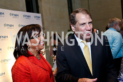 Toni Bush, Peter Kovler. Photo by Tony Powell. FNIH 2014 Lurie Prize Dinner. National Academy of Sciences. May 20, 2014