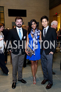 Cody Swallows, Neera Nathan, Ki Chang. Photo by Tony Powell. FNIH 2014 Lurie Prize Dinner. National Academy of Sciences. May 20, 2014