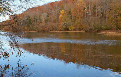 Looking upstream on the Rappahannock River