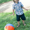 Alexander and his ball. Having fun at the Progressive Pot Luck Picnic.