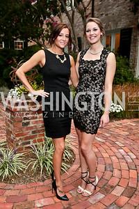 Teresa Daigle, Carly McKim. Photo by Tony Powell. Garden Reception for Patrick Jephson. Holland House. September 11, 2014