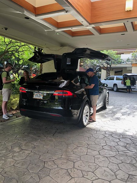 Tesla  with Batwing rear doors - Honolulu, HI