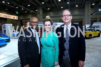 Alvin Jones, Michelle Harris, Brad Blakeman. Photo by Tony Powell. General Motors Washington Auto Show Exclusive Tour and Lunch. Convention Center and Rogue 24. January 23, 2014