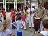 Annual capoeira school's demonstration, with real musicians