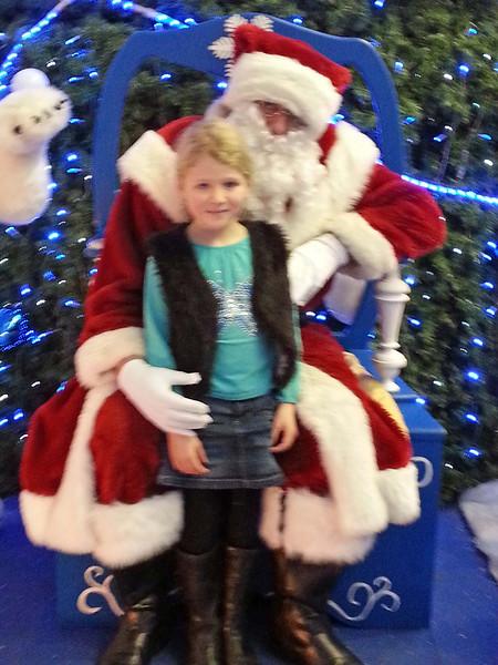 Charlotte with Santa