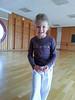 Charlotte at her capoiera lesson