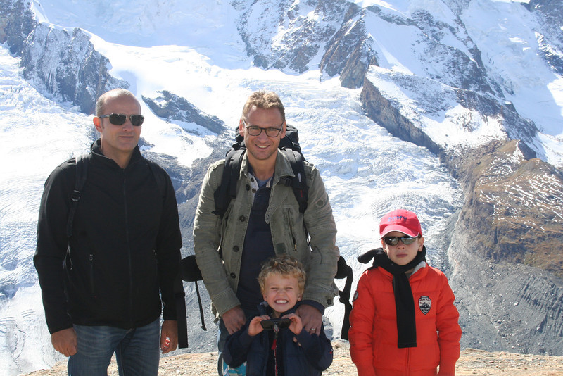 Jean-Yves with brother-in-law Christophe, Eliott and cousin Nivine.