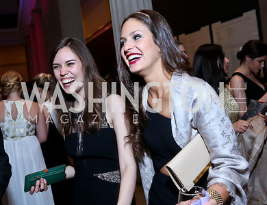 Evy Pena, Natalia Coelho. Photo by Tony Powell. Georgetown's 89th Annual Diplomatic Ball. Corcoran Gallery. April 4, 2014