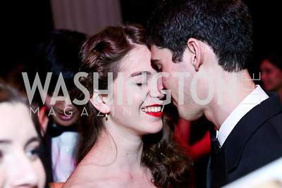 Rachel Azafrani, Zachary Kay. Photo by Tony Powell. Georgetown's 89th Annual Diplomatic Ball. Corcoran Gallery. April 4, 2014