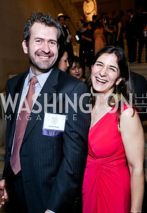 Jacques Arsenault and Asst. Dean Dr. Elizabeth Arsenault. Photo by Tony Powell. Georgetown's 89th Annual Diplomatic Ball. Corcoran Gallery. April 4, 2014