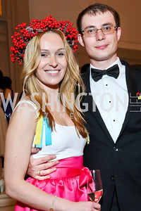 Tetyana and Alexander Girenko. Photo by Tony Powell. Georgetown's 89th Annual Diplomatic Ball. Corcoran Gallery. April 4, 2014