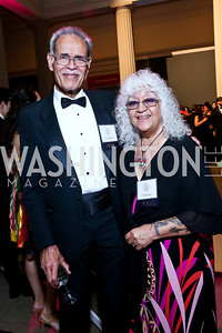 Fiji Ambassador Winston Thompson and Queenie Thompson. Photo by Tony Powell. Georgetown's 89th Annual Diplomatic Ball. Corcoran Gallery. April 4, 2014