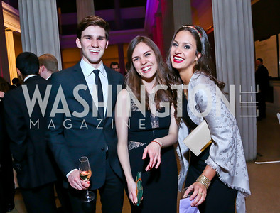 Andrew Jacobsberg, Evy Pena, Natalia Coelho. Photo by Tony Powell. Georgetown's 89th Annual Diplomatic Ball. Corcoran Gallery. April 4, 2014