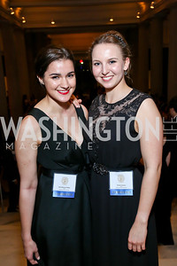 Co-Chairs Bella Blakeway-Phillips, Victoire Carrasco. Photo by Tony Powell. Georgetown's 89th Annual Diplomatic Ball. Corcoran Gallery. April 4, 2014