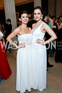 Emilie Siegler, Anais Carmona. Photo by Tony Powell. Georgetown's 89th Annual Diplomatic Ball. Corcoran Gallery. April 4, 2014