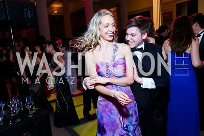 Michaela Locke, Jonathan Faure. Photo by Tony Powell. Georgetown's 89th Annual Diplomatic Ball. Corcoran Gallery. April 4, 2014