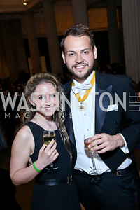 Olympia Filippeli, George Spyropoulos. Photo by Tony Powell. Georgetown's 89th Annual Diplomatic Ball. Corcoran Gallery. April 4, 2014