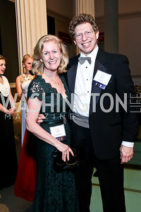 Ireland Amb. Anne Anderson and Dr. Frank Lowe. Photo by Tony Powell. Georgetown's 89th Annual Diplomatic Ball. Corcoran Gallery. April 4, 2014