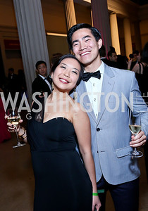 Hye Chang, Brendan Eng. Photo by Tony Powell. Georgetown's 89th Annual Diplomatic Ball. Corcoran Gallery. April 4, 2014