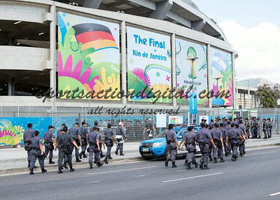 Rio de Janeiro, Brazil.  Sunday, July 13, 2014.  Germany vs Argentina in the World Cup final match.  Germany won 1-0 with a goal in the 113th minute.