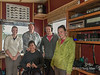 Director and volunteers at Cetacea Lab, a non-profit whale research station, Gill Island, mid-coast British Columbia