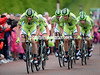 Ivan Basso led his Cannondale team to 7th place, 53-seconds down...