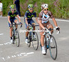 Pozzovivo has attacked and taken Quintana with him, while Izaguirre has dropped from the escape to help Quintana...