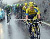 Nicholas Roche is the man doing the chasing for the Tinkoff team...