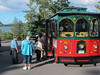 Boarding the trolley to the Glimmerglass Festival