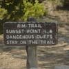 _0005055 Sign Rim Trail Bryce