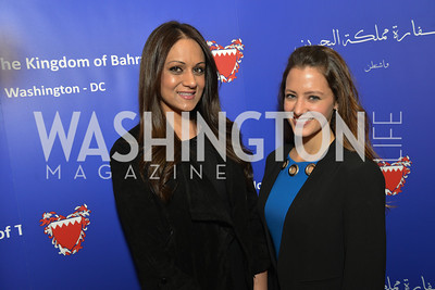 Umbereen Ahmed, Amanda Jones, HBS Business Leadership Dinner at the Embassy fo the Kingdom of Bahrain. His Excellency Ambassador Shaikh Abdulla Bin Mohamed Al-Khaifa.  Photo by Ben Droz.