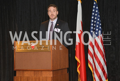 Nathan Regan, HBS Business Leadership Dinner at the Embassy fo the Kingdom of Bahrain. His Excellency Ambassador Shaikh Abdulla Bin Mohamed Al-Khaifa.  Photo by Ben Droz.