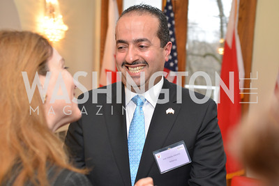 HBS Business Leadership Dinner at the Embassy fo the Kingdom of Bahrain. His Excellency Ambassador Shaikh Abdulla Bin Mohamed Al-Khaifa.  Photo by Ben Droz.