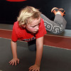 11-28-12<br /> Parisi Speed School at Club Fitness 24<br /> Ray Johnson, 9, participates in one of the exercises in the Parisi Speed School at Club Fitness 24.<br /> KT photo | Kelly Lafferty