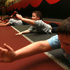 11-28-12<br /> Parisi Speed School at Club Fitness 24<br /> Talon Morgan, 8, does an exercise with the rest of the group during the Parisi Speed School.<br /> KT photo | Kelly Lafferty