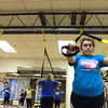 11-15-12<br /> Heartland-TRX class<br /> Briley Roseberry exercises in the TRX class at the YMCA.<br /> KT photo | Kelly Lafferty