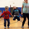 12-6-12<br /> Zumbatomic<br /> 4-year-old Elijah O'Neal (center) jumps up during one of the dances in Zumbatomic class.<br /> KT photo | Kelly Lafferty