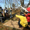 11-17-12<br /> The medeaval reenactment group Empire of Chivalry and Steel campout and battles.<br /> The battle to take over the castle.<br /> KT photo | Tim Bath