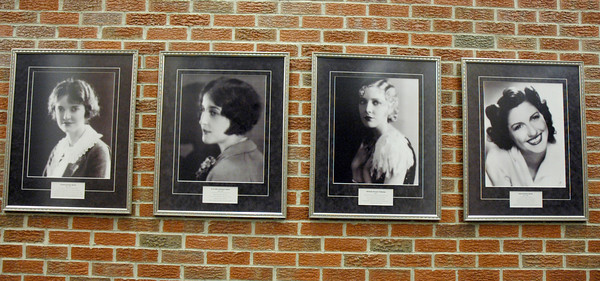 12-2-13   ---  Greentown Historical Society is trying to preserve the past with a large collection.<br /> Portraits of the Seegar sisters who lived in Greentown. The were involved in performing arts, stage, screen and television.<br />   KT photo   Tim Bath